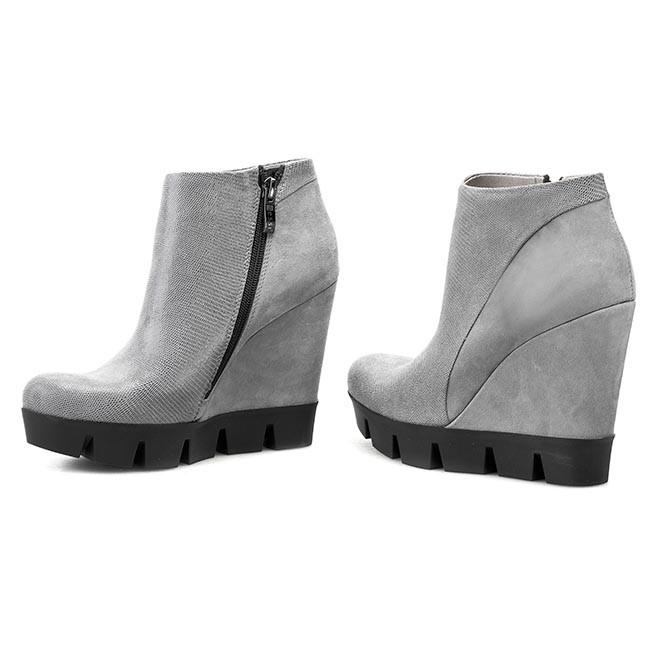 Magasított cipő NESSI - 690 N Szary Lizaro Szary 19 - Magasított ... 179924c7aa
