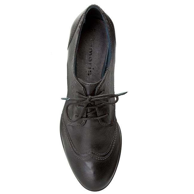 Oxford cipők TAMARIS 1 23203 25 Black Leather 003