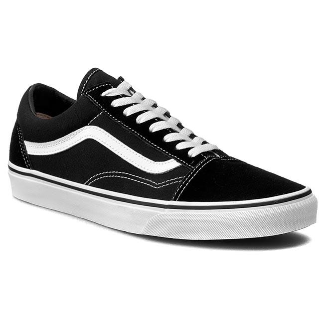 9189ced82e7 Teniszcipő VANS - Old Skool VN000D3HY28 Black White - Tornacipők ...