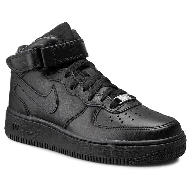 Cipők NIKE - Air Force 1 Mid  07 LE 366731 001 Black Black - Lapos ... c505e7e37b