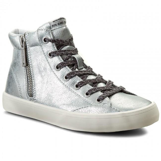 Sportcipő PEPE JEANS - Clinton Combi PLS30359 Silver 934 - Lapos ... 5f390e4ac1