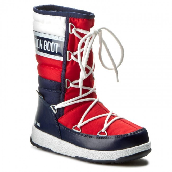 10a1179d2b Hótaposó MOON BOOT - W.E. Quilted Jr Wp 34050700006 Blu/Bianco/Rosso ...