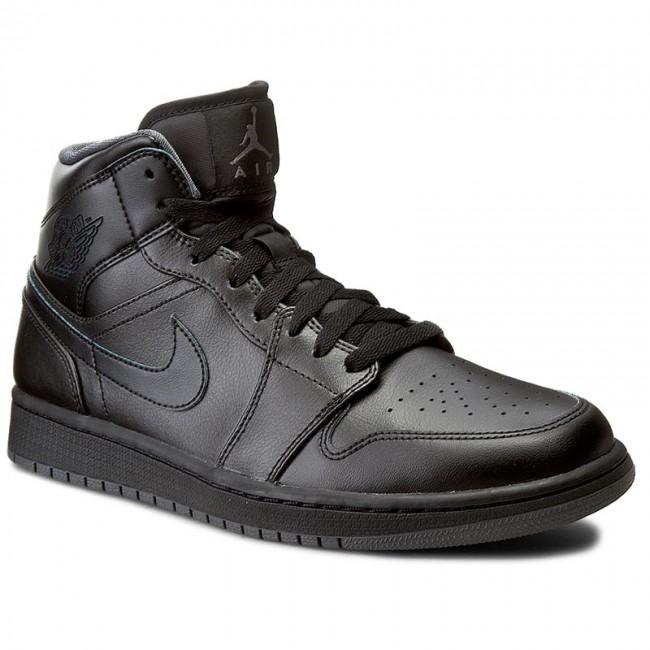 a5b4521d7c Cipők NIKE - Air Jordan 1 Mid 554724 021 Black/Black/Dark Grey ...