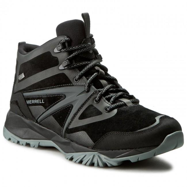 Bakancs MERRELL - Capra Bolt Leather Mid Wp J35803 Black - Magas ... 36d2ec0b8e