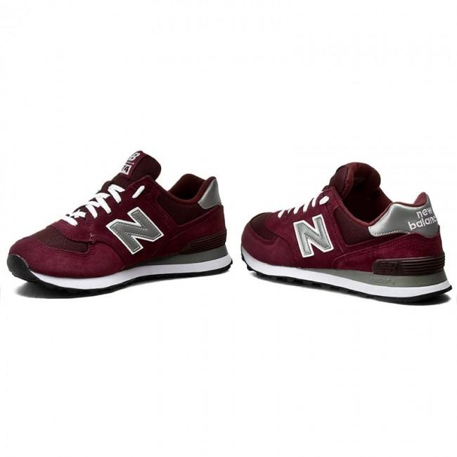 Sportcipő NEW BALANCE - M574NBU Bordó - Sneakers - Félcipő - Férfi ... 65537bd1fd