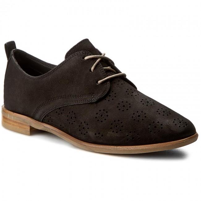 Oxford cipők CLARKS - Alania Posey 261231004 Black Nubuck - Oxford ... 0793a3c364