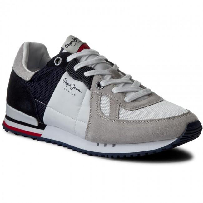 Sportcipő PEPE JEANS - Tinker Jack PMS30343 White 800 - Sneakers ... b9452c12df