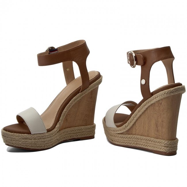 3058f77ae0 Espadrilles TOMMY HILFIGER - Beatrice 6A FW0FW00653 Whisper White/Cognac 901