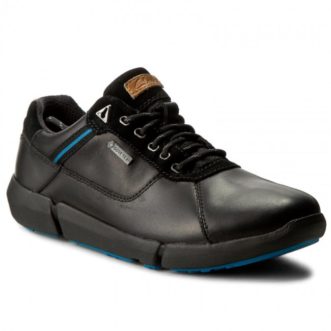 Félcipő CLARKS - Triman Lo Gtx GORE-TEX 261193367 Black Leather ... 1e194ebf2a
