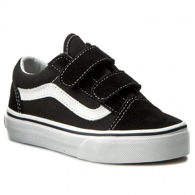 Félcipő VANS - Old Skool V VN000VHE6BT Black True White - Tépőzáras ... 294919e48b