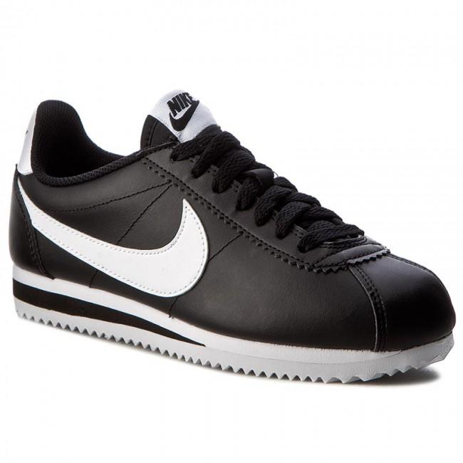 9114e18387 Cipők NIKE - Classic Cortez Leather 807471 010 Black/White/White ...