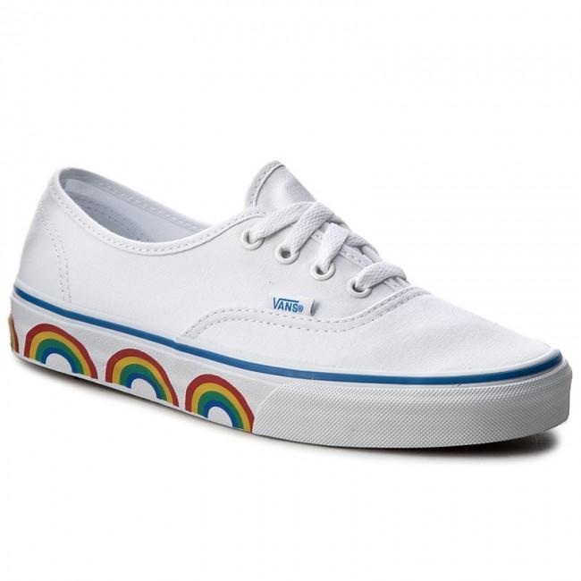 f83489ce61 Teniszcipő VANS - Authentic VN0A38EMMQC (Rainbow Tape) True White ...