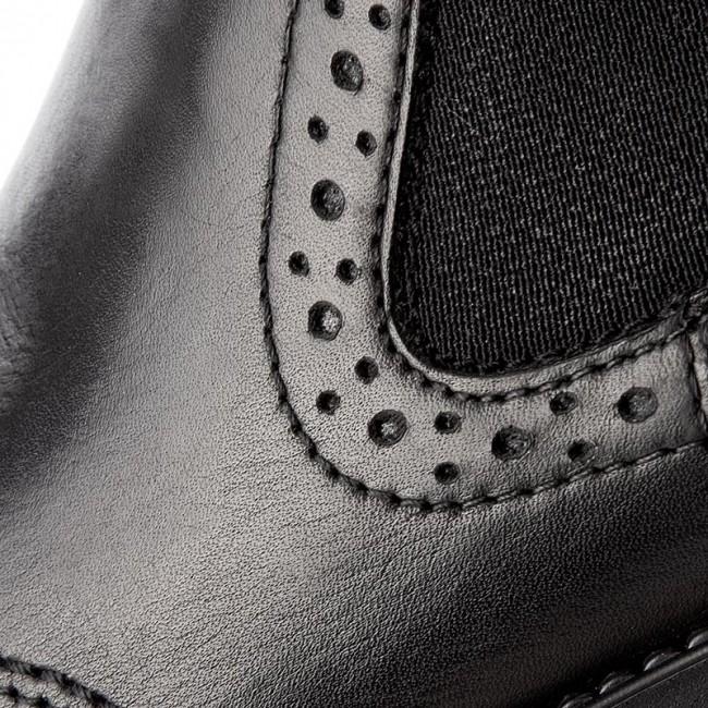 Magasított cipő TAMARIS - 1-25493-29 Black Leather 003 - Magasított ... 95cd5ae497