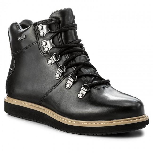 Magasított cipő CLARKS - Glickasha Gtx GORE-TEX 261296524 Black Leather a72dfd9744