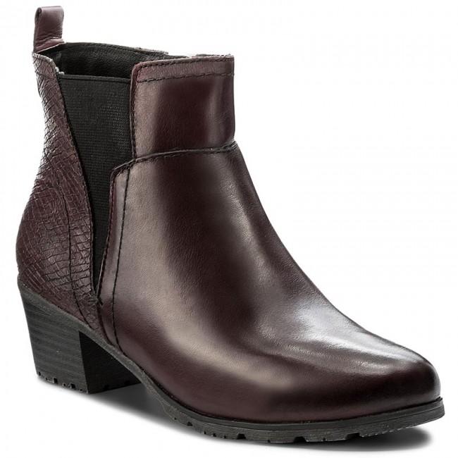 Magasított cipő JANA - 8-25312-29 Bordeaux 549 - Magasított cipők ... a8616b4c18