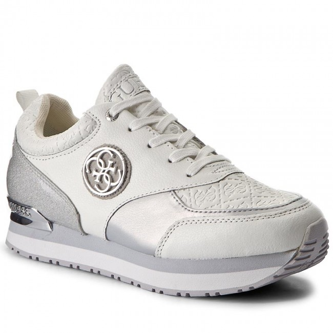 Sportcipő GUESS - Rimma FLRIM3 LEA12 SILVE - Sneakers - Félcipő ... ebb7895476