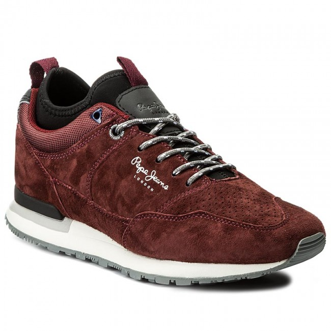 Sportcipő PEPE JEANS - Boston Treck PMS30383 Bordeaux 298 - Sneakers ... 483893498a