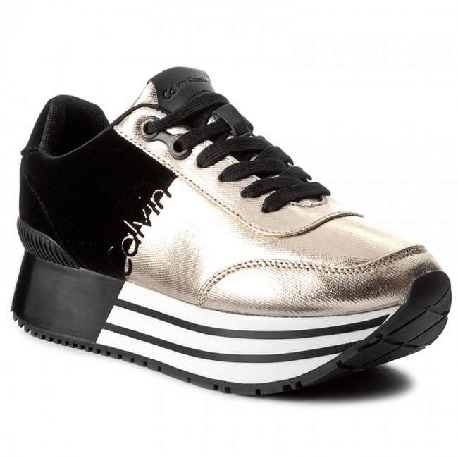 82117648f9 Sportcipő CALVIN KLEIN JEANS - Carlita R0689 Gold/Black - Sneakers ...