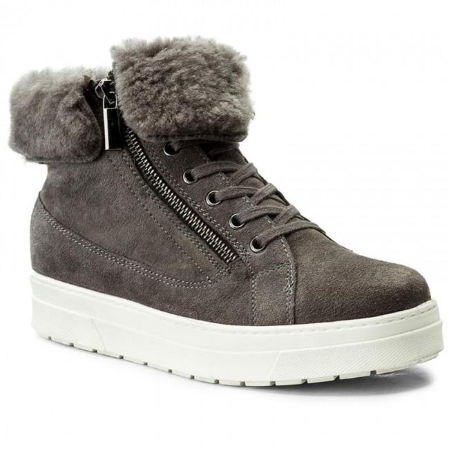 Magasított cipő CAPRICE - 9-26470-29 Dk Grey White 205 - Magasított ... a889456ffa