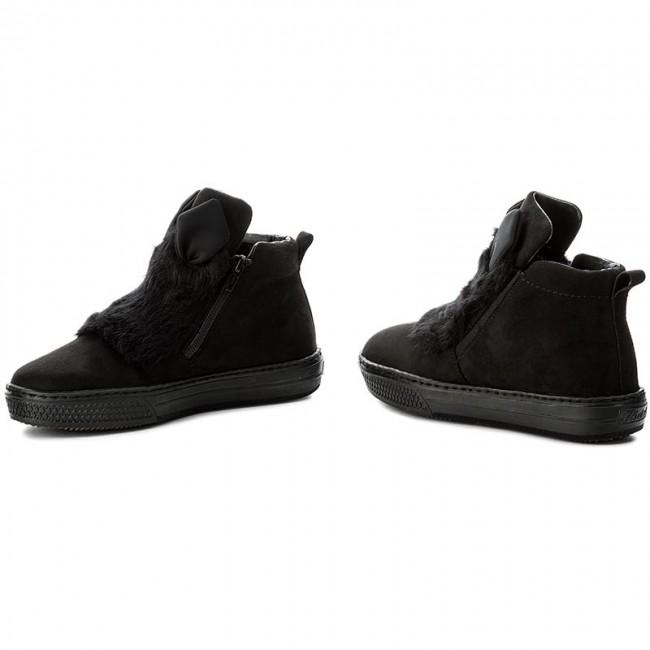 Magasított cipő RIEKER - Z5952-00 Black - Magasított cipők - Csizmák ... c21f3c5c39