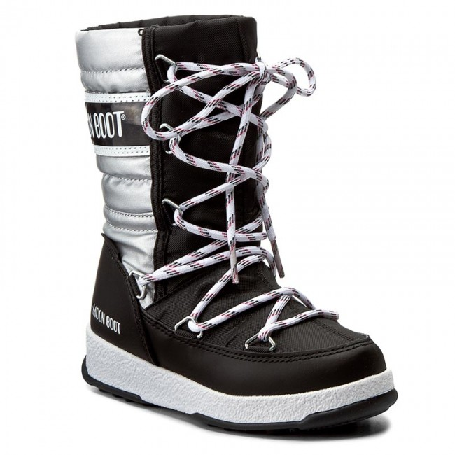 9990cbb688 Hótaposó MOON BOOT - Quilted Jr Met Wp 34051400002 Nero-Arge/Black/Silver