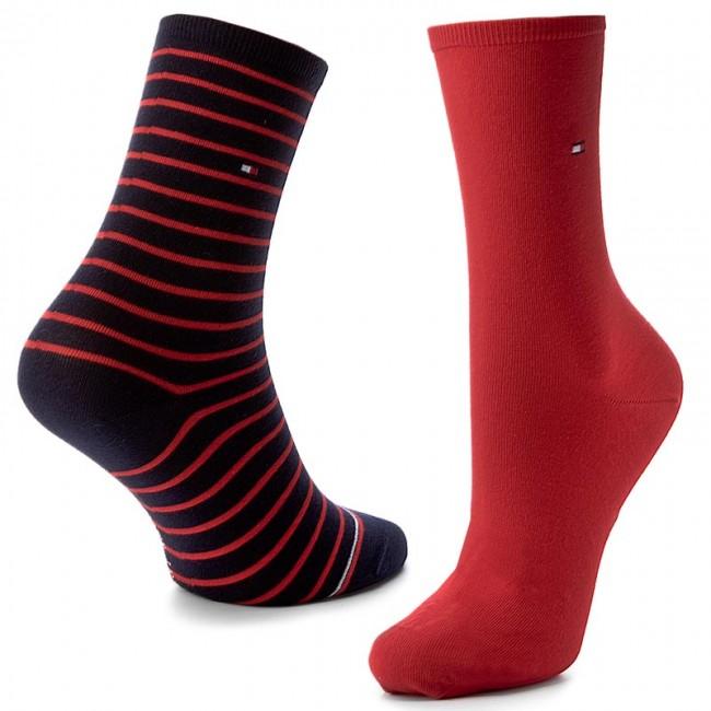 79bd1856b6 Két pár hosszú szárú női zokni TOMMY HILFIGER - 443015001 Red/Navy ...