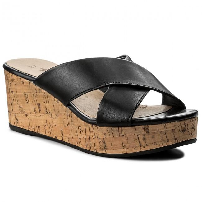 Papucs TAMARIS - 1-27218-20 Black - Hétköznapi papucsok - Papucsok ... 13e6db085b