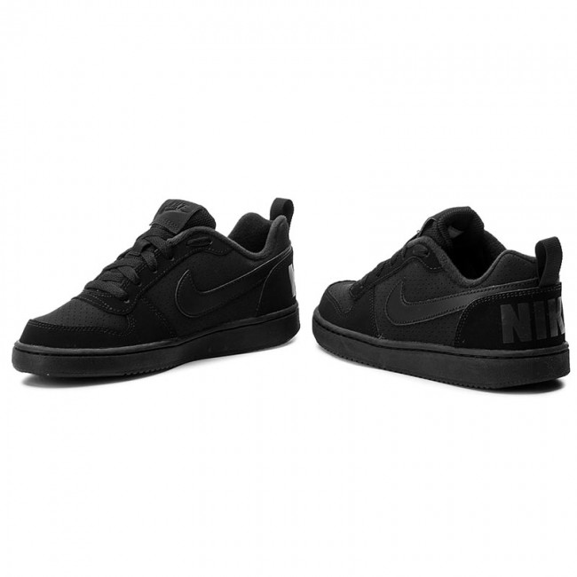 Cipő NIKE - Court Borough Low (GS) 839985 001 Black Black Black ... 5a5d4831e1