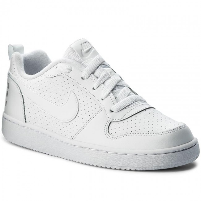 efd0aab408 Cipő NIKE - Court Borough Low (GS) 839985 100 White/White/White ...
