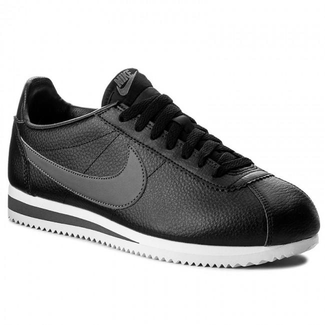 f1ddc5e225 Cipő NIKE - Classic Cortez Leather 749571 011 Black/Dark Grey/White ...