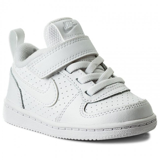 eaca7cf4fd Cipő NIKE - Court Borough Low 870029 100 White/White - Tépőzáras ...