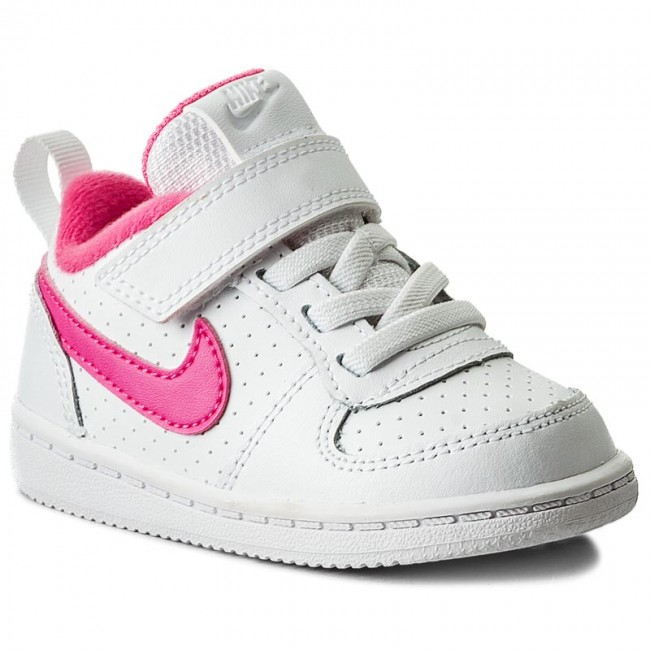 f336bf47cc Cipő NIKE - Court Borough Low 870030 100 White/Pink Blast ...