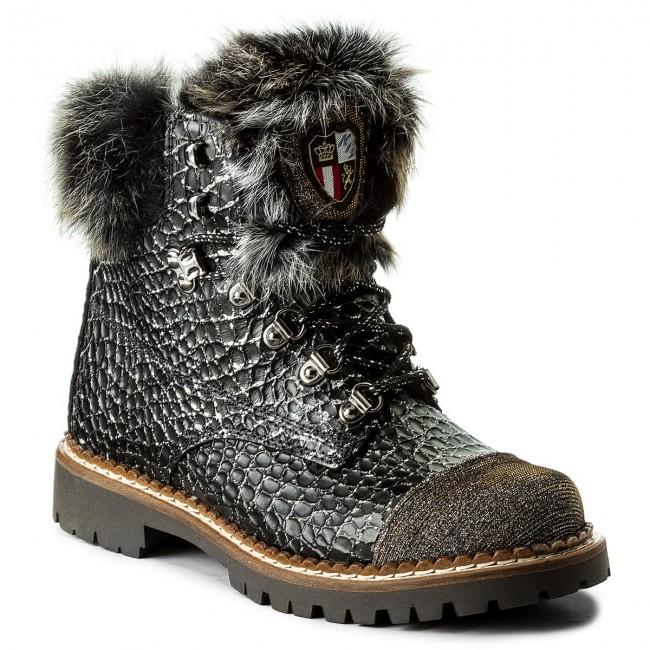 Magasított cipő NEW ITALIA SHOES - 1815418A 3 Black - Magasított ... f0e47cf009