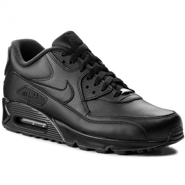 Cipő NIKE - Air Max 90 Leather 302519 001 Black Black - Sneakers ... 9963db9900