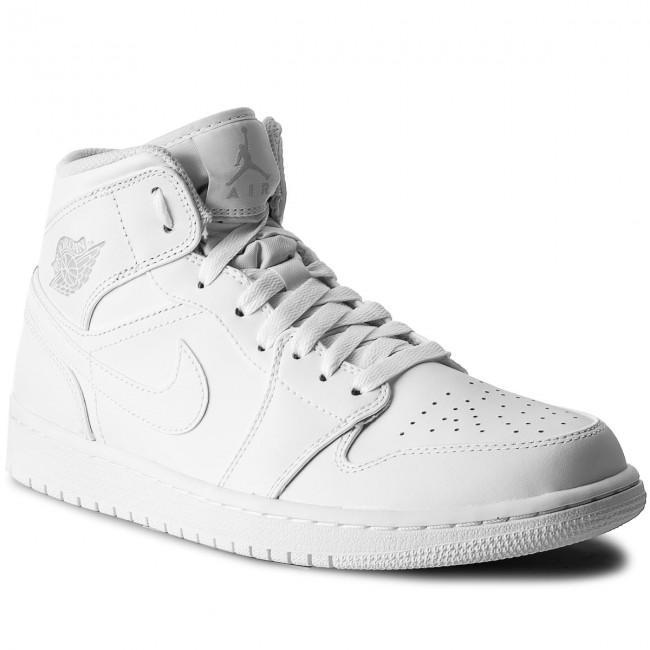 15f9b88844e0 Cipő NIKE - Air Jordan 1 Mid 554724 104 White/Pure Platinum/White ...
