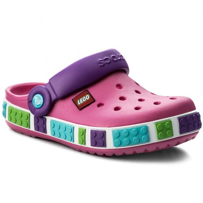 Papucs CROCS - Crocband Kids Lego Clog 12080 Neon Magenta Neon ... 0b214003d6