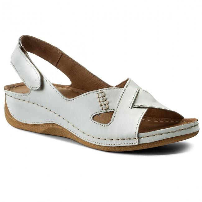 99a2af0087 Szandál POLLONUS - 5-0780-014 Avorio - Magasított sarkú cipők ...