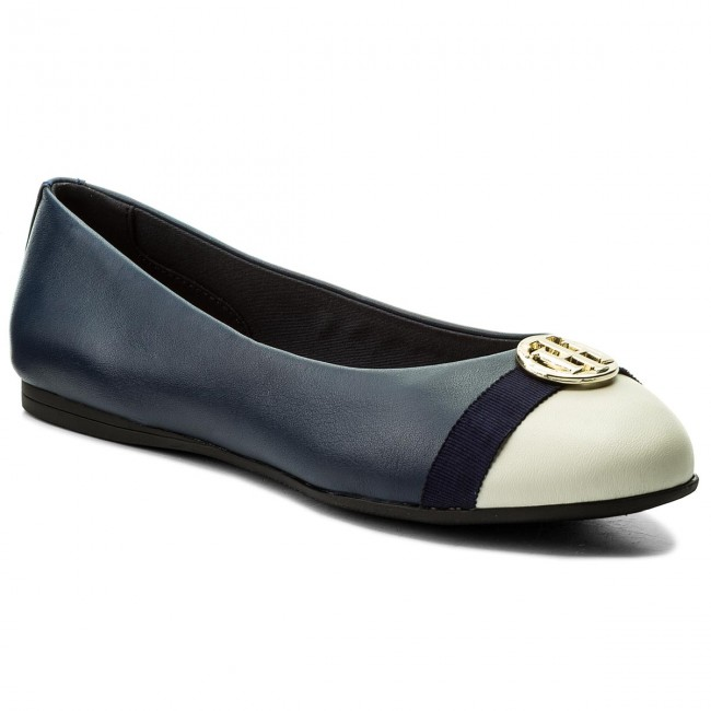 Balerina TOMMY HILFIGER - Ballerina With Hardware FW0FW02813 Tommy Navy 406 1bc59a3335