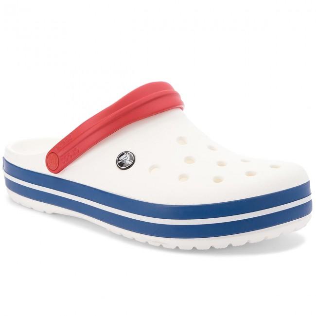 Papucs CROCS - Crocband 11016 White Blue Jean - Hétköznapi papucsok ... a848cc3932