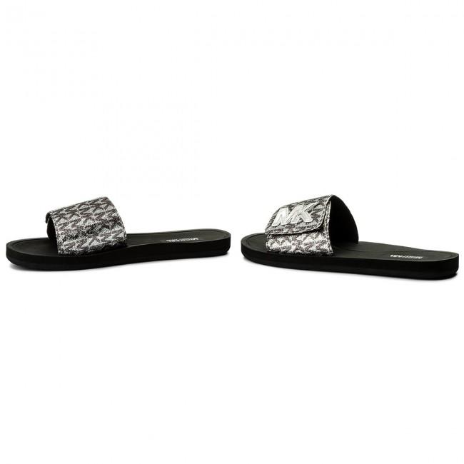 9190da7f97 Papucs MICHAEL MICHAEL KORS - MK Slide 40S8MKFA1D Silver/Blk ...