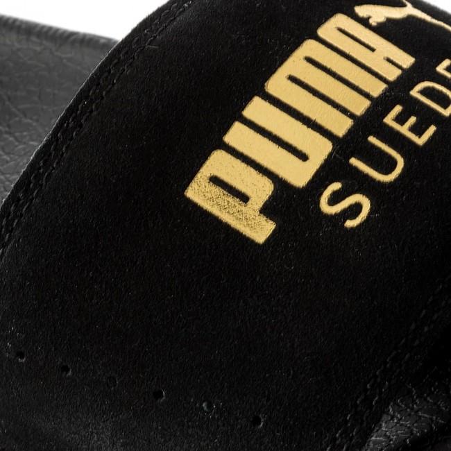 Papucs PUMA - Leadcat Suede 365758 01 Puma Black Puma Team Gold ... 9ef11f84d4