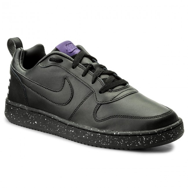 Cipő NIKE - Court Borough Low 916760 002 Black Black White Court Purple 059d64264b