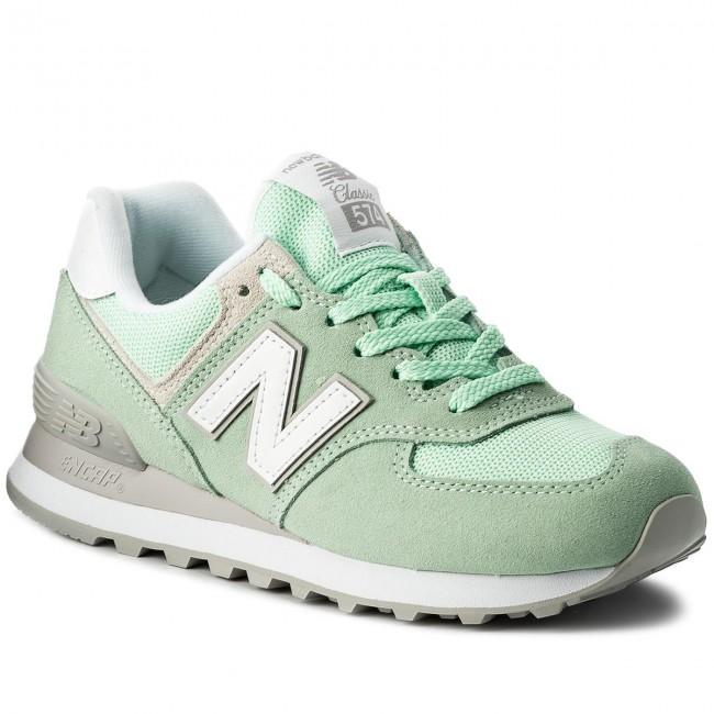 Sportcipő NEW BALANCE - WL574ESM Zöld - Sneakers - Félcipő - Női ... 29f8fc3eaf