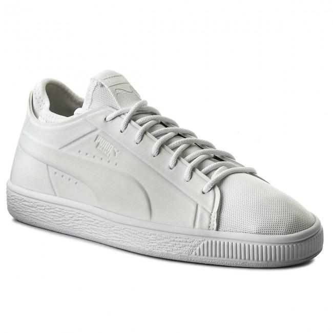 a56149ad7d Sportcipő PUMA - Basket Classic Sock Lo 365370 02 Puma Wht/Puma Wht/Puma