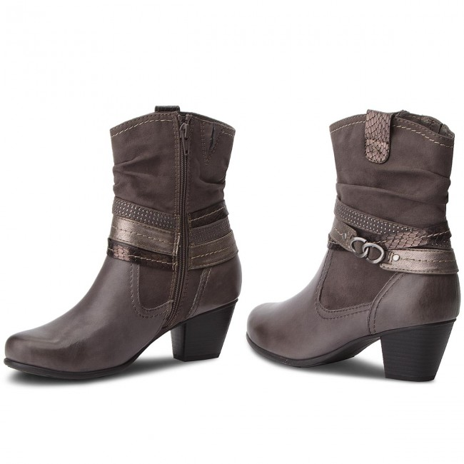 Magasított cipő JANA - 8-25327-21 Graphite 206 - Magasított cipők ... f65526faeb