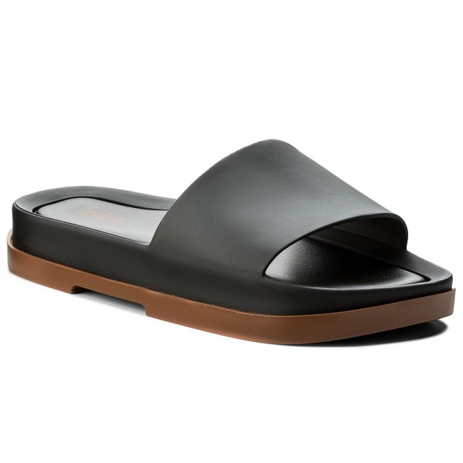 Papucs MELISSA - Beach Slide Platform A 32350 Brown Black 51620 ... 6c9596412b