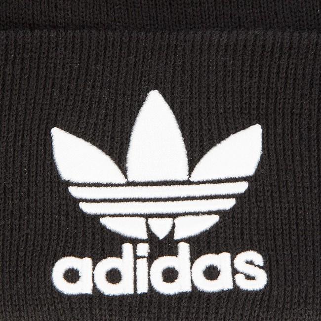 Sapka adidas - Trefoil Beanie BK7634 Black - Női - Sapkák - Textília ... b1dffaad77