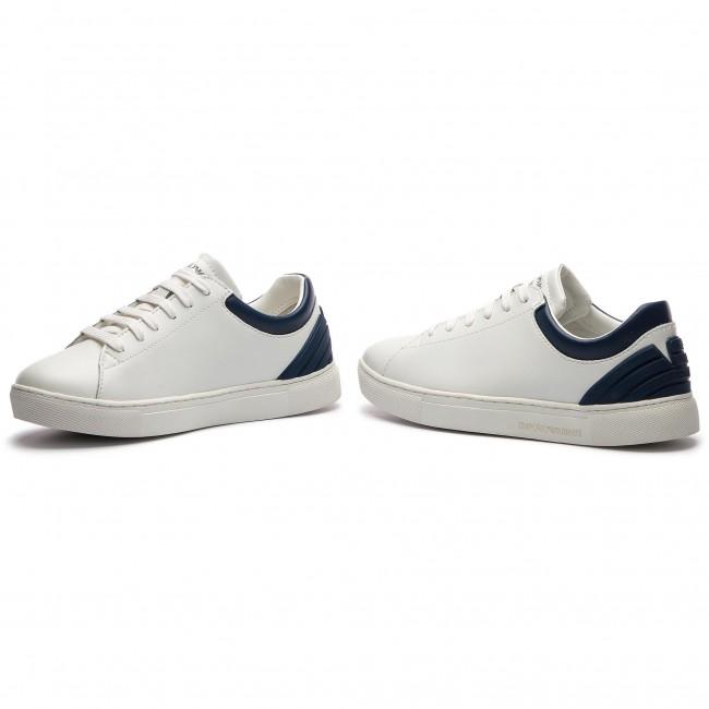 Sportcipő EMPORIO ARMANI - XYX001 XOI12 B139 White Navy - Sneakers ... 26aee4a22b