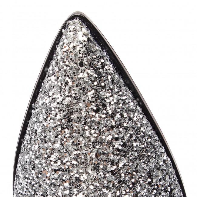 Magasított cipő UNISA - Jiste Gl Silver Glitter  - Bokacsizmák - Csizmák és egyebek - Női kiO1t