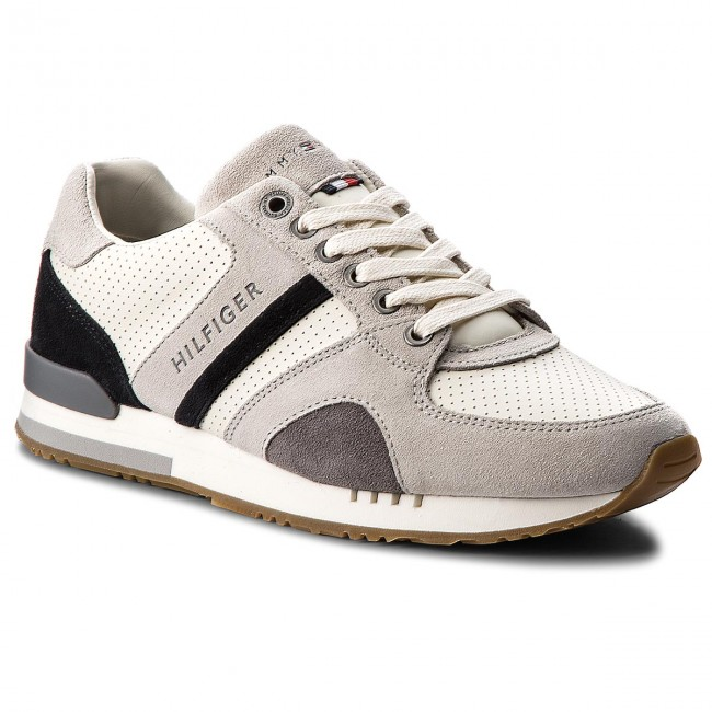 49a86059c6 Sportcipő TOMMY HILFIGER - New Iconic Casual Runner FM0FM01640 Ice 101